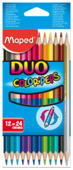 Maped Цветные карандаши двусторонние Color Peps Duo 24 цвета 12 штук (829600)