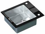 Врезная кухонная мойка ZorG INOX GL-6051 BLACK