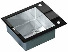 Врезная кухонная мойка ZorG INOX GL-6051 BLACK 60х51см нержавеющая сталь
