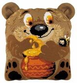 Риолис Набор для вышивания крестом Подушка Медвежонок 30 х 35 см (1590)