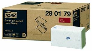 Полотенца бумажные TORK Advanced singlefold зелёные 290179