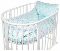 SWEET BABY комплект в овальную кроватку Colori (4 предмета)