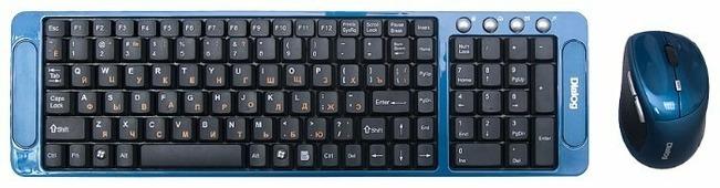 Клавиатура и мышь Dialog KMRLK-0318U Blue USB