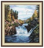 Овен Цветной Вышивка крестом Водопад Кивач 29 х 35 см (560)