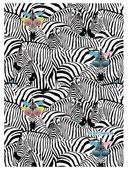 Скетчбук Канц-Эксмо Paper Art Модные зебры Графика 29.7 х 21 см (A4), 100 г/м², 80 л.