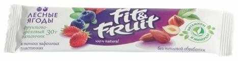 Фруктовый батончик Fit&Fruit в тонких вафельных пластинках Лесные ягоды, 30 г