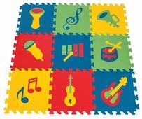 Коврик-пазл pilsan 9-ти секционный с музыкальными символами (03-469-T)
