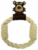 Игрушка для собак Ankur Медведь-кольцо 27х20 см