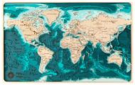 Панно ArtWood Planet Карта глубин Мир