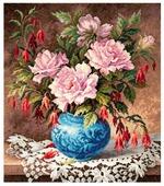 Чудесная Игла Набор для вышивания Розы и фуксии 31 x 35 см (40-75)