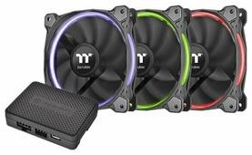 Система охлаждения для корпуса Thermaltake Riing Plus 14 LED RGB Radiator Fan TT Premium Edition (3 Fan Pack)