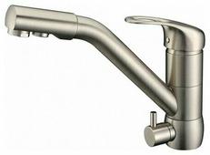Однорычажный смеситель для кухни (мойки) ZorG ZR400KF-12 сатин