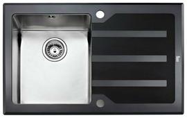 Врезная кухонная мойка TEKA Lux 1B 1D 86 86х51см нержавеющая сталь