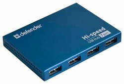 USB-концентратор Defender Quadro Septima Slim (83505), разъемов: 7