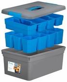 FunBox Ящик-органайзер 10 л Mechaniс, 12 вставок S и 2 лотка S
