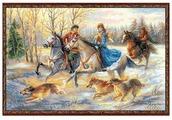 Риолис Набор для вышивания крестом Русская охота 60 x 40 (1639)