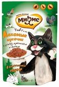 Корм для стерилизованных кошек Мнямс Пир охотника с уткой, с кроликом, с дичью 100 г (кусочки в соусе)