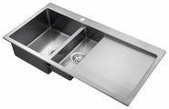 Врезная кухонная мойка AQUASANITA Luna LUN151M-L 100х51см нержавеющая сталь