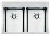 Врезная кухонная мойка smeg LFT3434RS 79.2х51см нержавеющая сталь