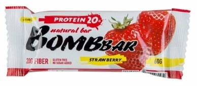 Протеиновый батончик Bombbar Клубника, 60 г
