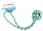 Мячик для собак Zoobaloo Шнур с ручкой 30 см