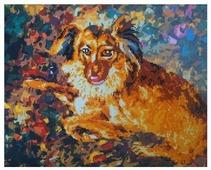 Color Kit Набор алмазной вышивки-раскраска Породистый пес (RA004) 50х40 см