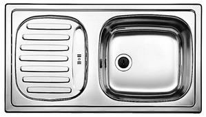 Врезная кухонная мойка Blanco Flex Mini декор 78х43.5см нержавеющая сталь