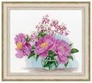 Золотое Руно Набор для вышивания Пионы в вазе 27,4 х 30,5 см (ЛЦ-073)