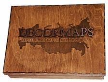 Панно Decormaps деревянная карта России, венге