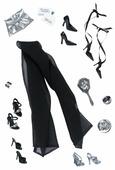 Barbie Комплект обуви и аксессуаров для куклы Барби Basics Accessories Look No 04—Collection 001