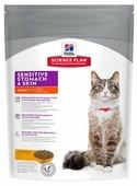 Корм для кошек Hill's Science Plan при чувствительном пищеварении, с курицей