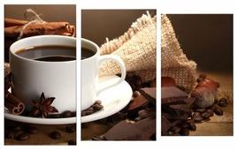 Модульная картина Картиномания Кофе с шоколадом