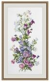 Овен Цветной Вышивка крестом Весенняя композиция 20 х 44 см (952)