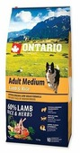 Корм для собак Ontario Adult Medium Lamb & Rice