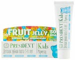 Зубная паста PresiDENT Kids Fruit Jelly мармелад 3-6 лет 50 RDA без фтора