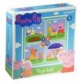 Набор пазлов Origami Peppa Pig На отдыхе 4 в 1 (01599)