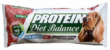 Лакомство для собак Titbit Протеиновый батончик Diet Balance с клетчаткой