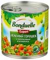 Зеленый горошек Bonduelle Expert с морковью в кубиках, жестяная банка 400 г