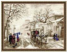 Риолис Набор для вышивания крестом Cтарая улочка 40 x 30 (1400)