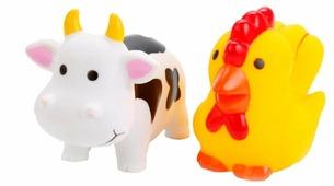 Набор для ванной Играем вместе Корова и петух (LXB105_107)