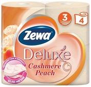Туалетная бумага Zewa Deluxe Персик трёхслойная