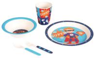 Комплект посуды Bambooware Супер-мальчик