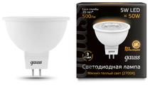 Лампа светодиодная gauss 101505105, GU5.3, JCDR, 5Вт