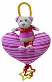 Подвесная игрушка I-Baby Мишка на сердечке/луне (B-13111)