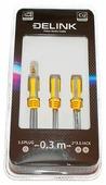 Разветвитель Delink mini jack 3.5 mm - 2 x mini jack 3.5 mm
