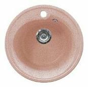 Врезная кухонная мойка Gran-Stone GS-45 45х45см искусственный мрамор
