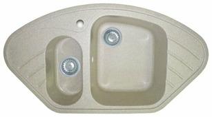 Врезная кухонная мойка GranFest Corner GF-C960E 96х51см искусственный мрамор