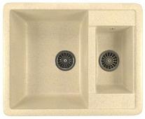 Врезная кухонная мойка Mixline ML-GM21 60х48.5см искусственный мрамор