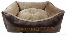 Лежак для собак, для кошек Fauna International Manhattan M (FIDB-1003) 60х50х15 см