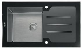 Врезная кухонная мойка Tolero Glass TG-860 86х50см нержавеющая сталь